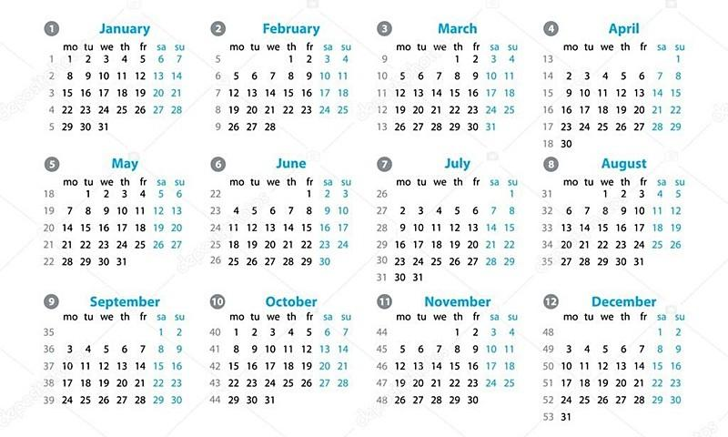 depositphotos 116069280 stock illustration calendar 2018 year vector design 800x480